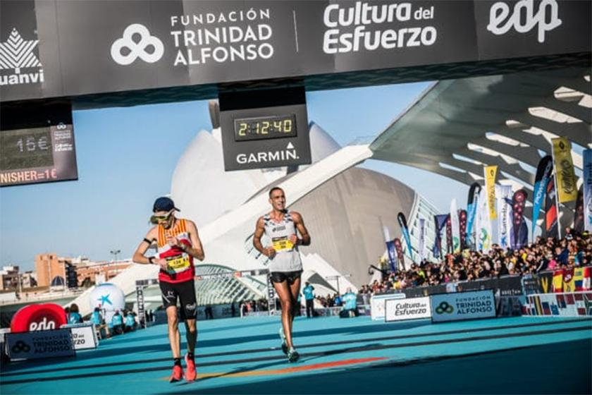 Plan de entrenamiento Maratón de Valencia 2019, línea de meta