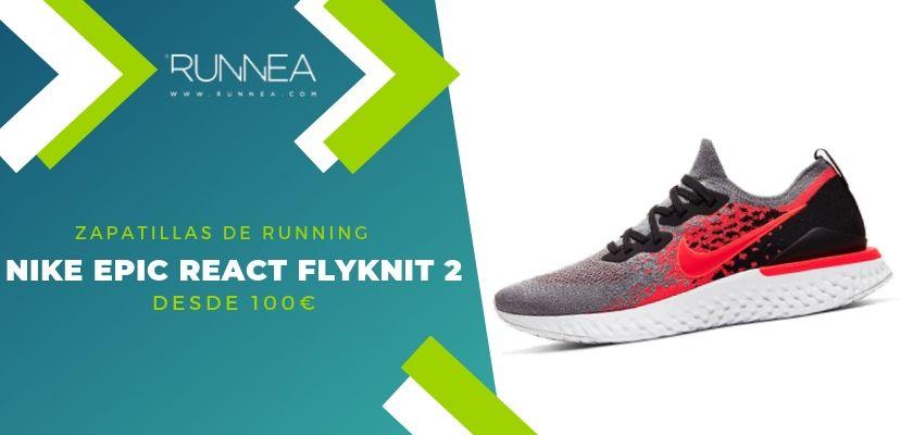 Las 15 zapatillas running de Nike más destacadas por rango de precio, Nike Epic React Flyknit 2