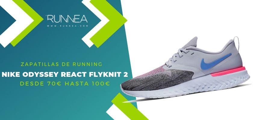 Las 15 zapatillas running de Nike más destacadas por rango de precio, Nike Odyssey React Flyknit 2