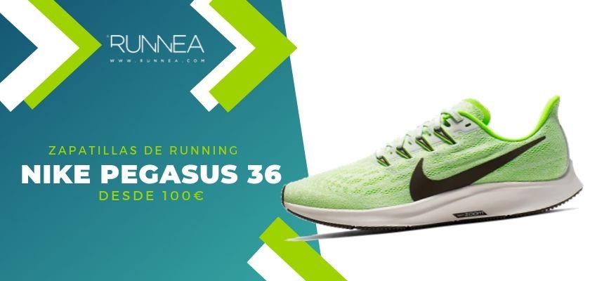 Invertir acumular dueña  15 zapatillas running de Nike más destacadas por rango de precio