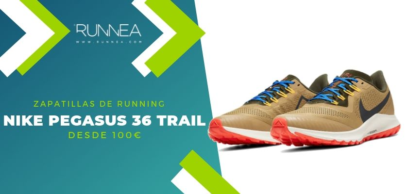 Las 15 zapatillas running de Nike más destacadas por rango de precio, Nike Pegasus 36 trail