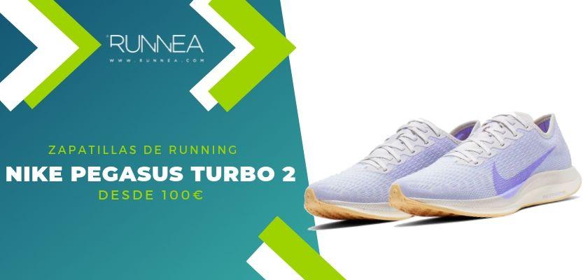 Las 15 zapatillas running de Nike más destacadas por rango de precio, Nike Pegasus Turbo 2