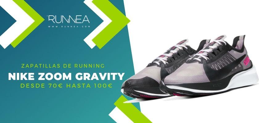 Las 15 zapatillas running de Nike más destacadas por rango de precio, Nike Zoom Gravity