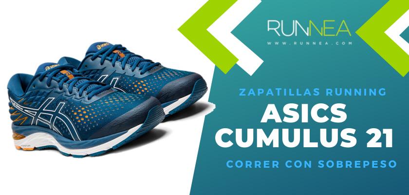 Mejores zapatillas para empezar a correr con sobrepeso 2019 - ASICS Cumulus 21