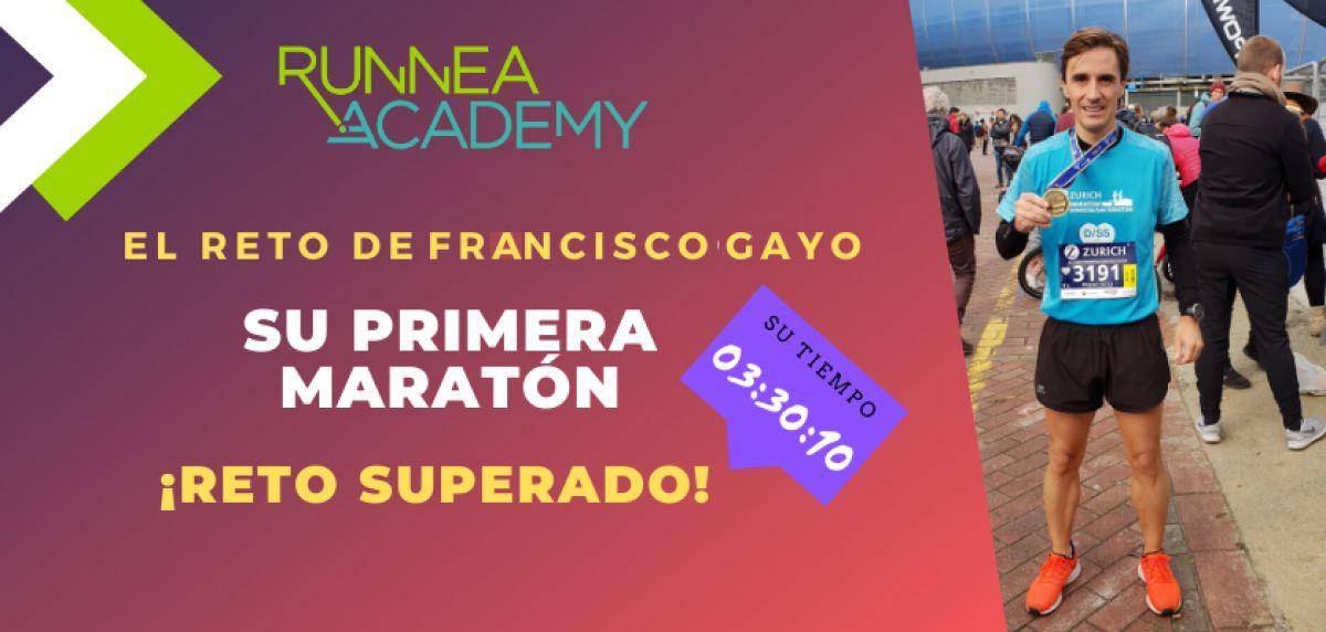 El reto de Francisco Gayo: Hacer su primera maratón con Runnea Academy