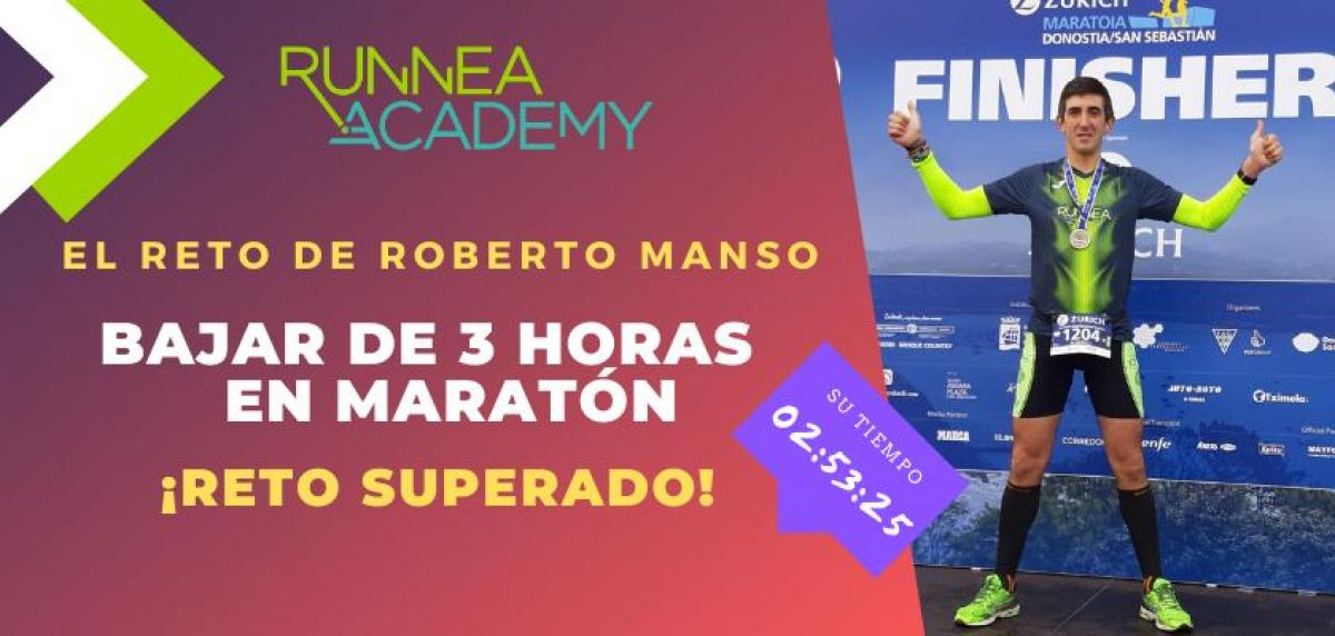 El reto de Roberto Manso: Bajar de 3 horas en la Maratón de San Sebastián con Runnea Academy