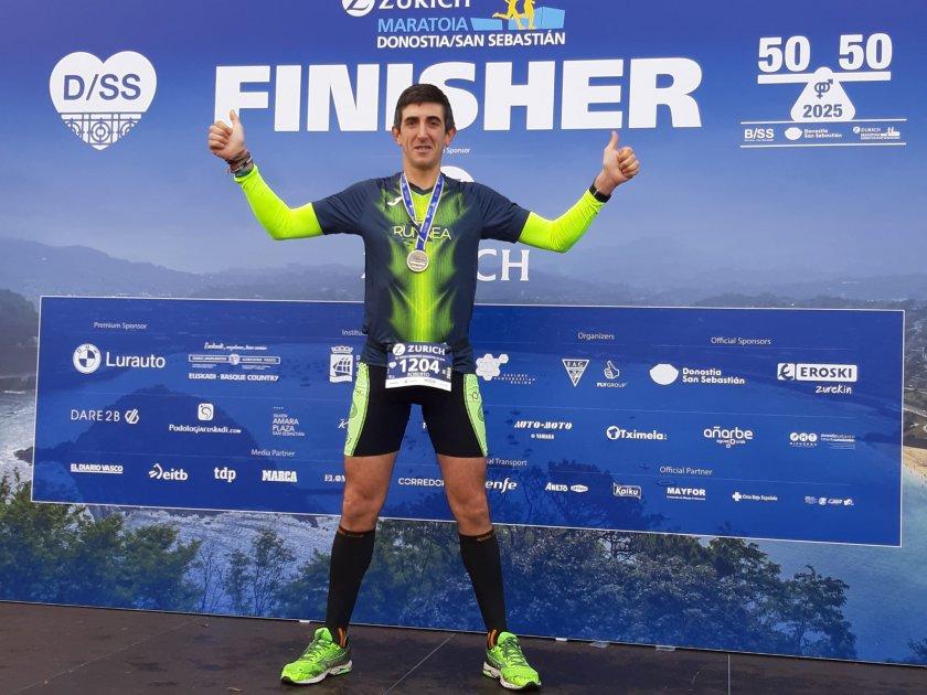 El reto de Roberto Mano: Bajar de 3 horas en la Maratón de San Sebastián