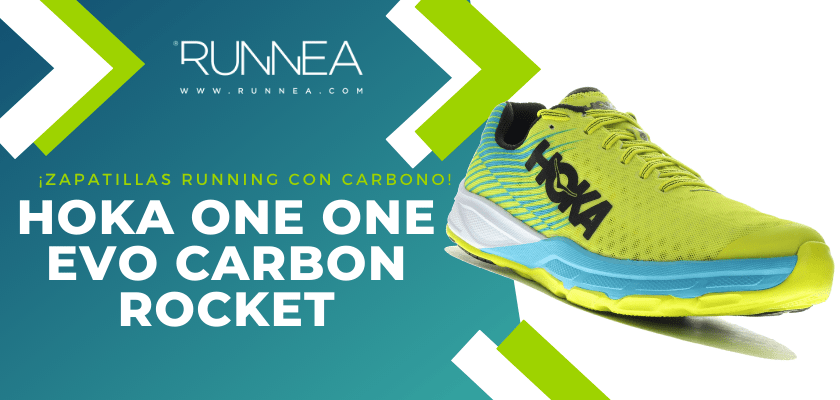 Las 6 zapatillas de running con placa de carbono más destacadas - Hoka One One Evo Carbon Rocket