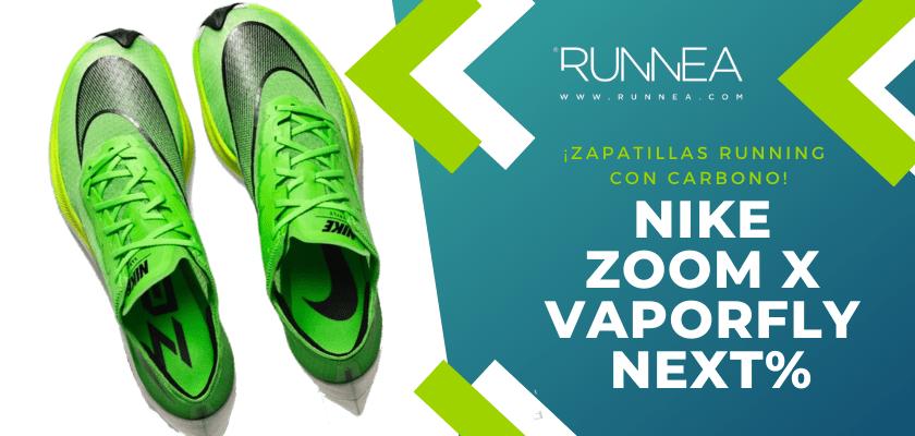 Las 6 zapatillas de running con placa de carbono más destacadas - Nike Zoom X Vaporfly Next%