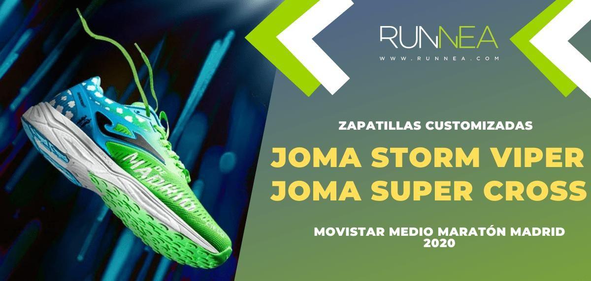 Joma Super Cross y Joma Storm Viper, zapatillas customizadas para celebrar el 20 aniversario del Movistar Medio Maratón Madrid