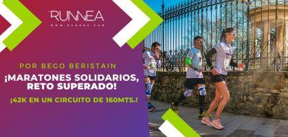 ¿Es posible correr una maratón en un circuito de 160 metros?