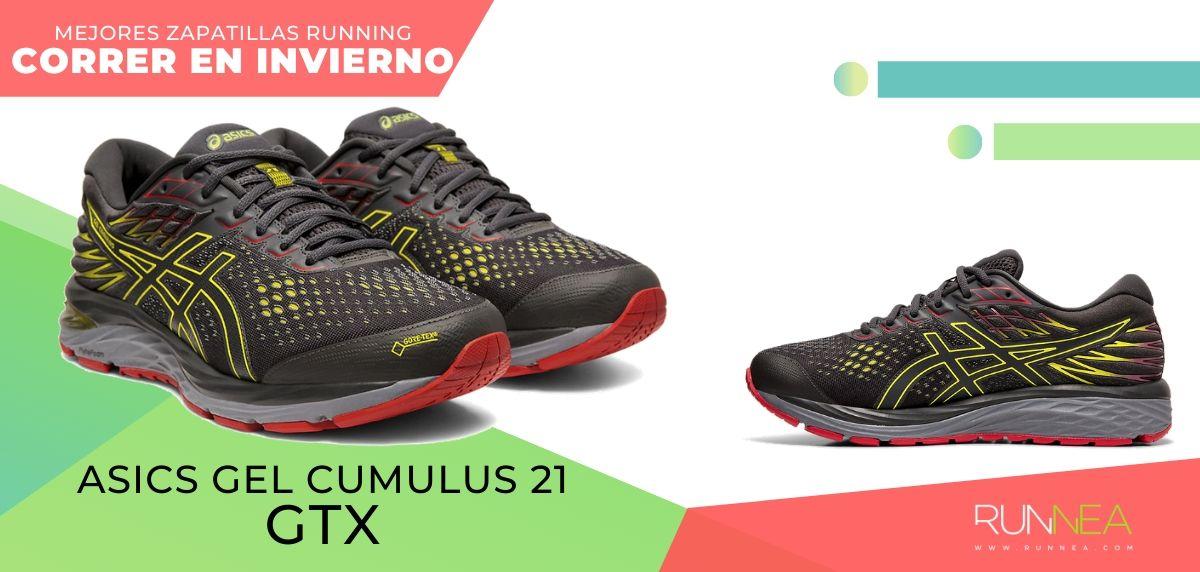Las mejores zapatillas de running para correr en invierno y bajo la lluvia, ASICS Gel Cumulus 21 GTX