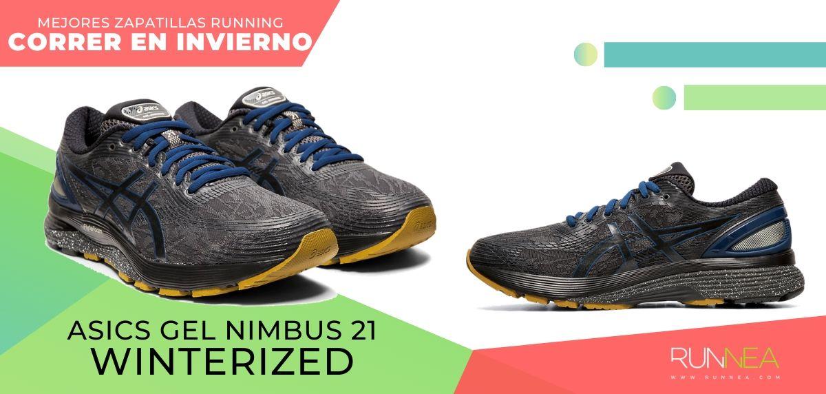 Las mejores zapatillas de running para correr en invierno y bajo la lluvia, ASICS Gel Nimbus 21 Winterized
