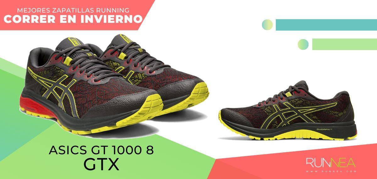 Las mejores zapatillas de running para correr en invierno y bajo la lluvia, ASICS GT 1000 8 GTX