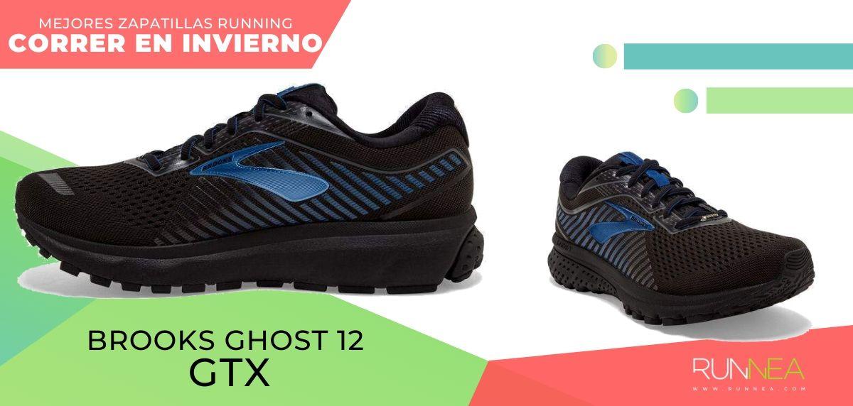 Las mejores zapatillas de running para correr en invierno y bajo la lluvia, Brooks Ghost 12 GTX