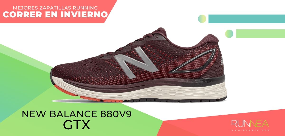 Las mejores zapatillas de running para correr en invierno y bajo la lluvia, New Balance 880v9 GTX