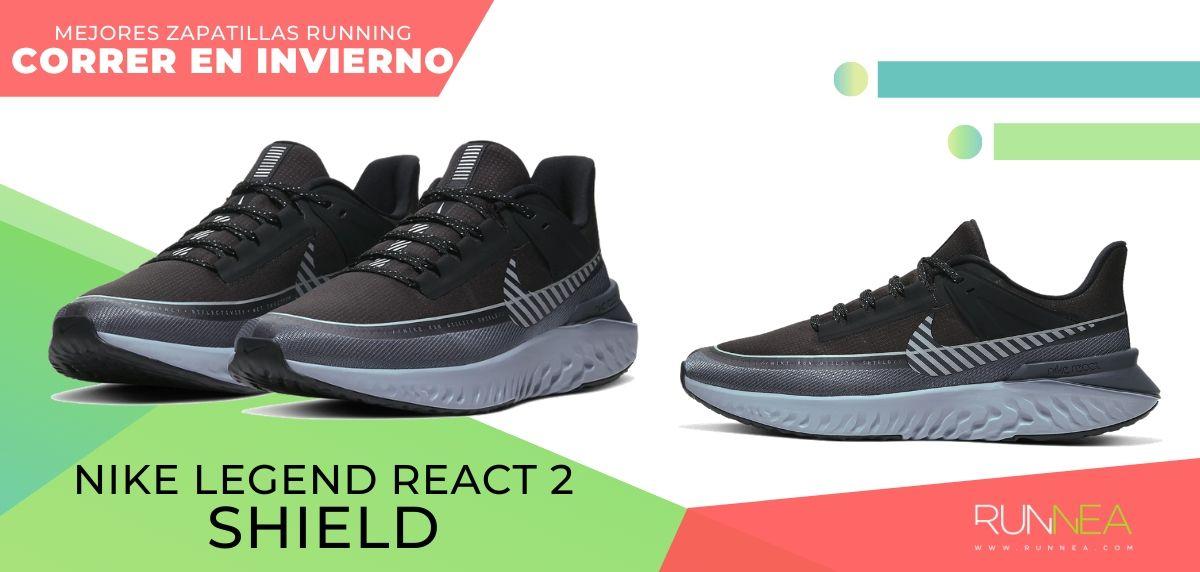 Las mejores zapatillas de running para correr en invierno y bajo la lluvia, Nike Legend React Shield 2