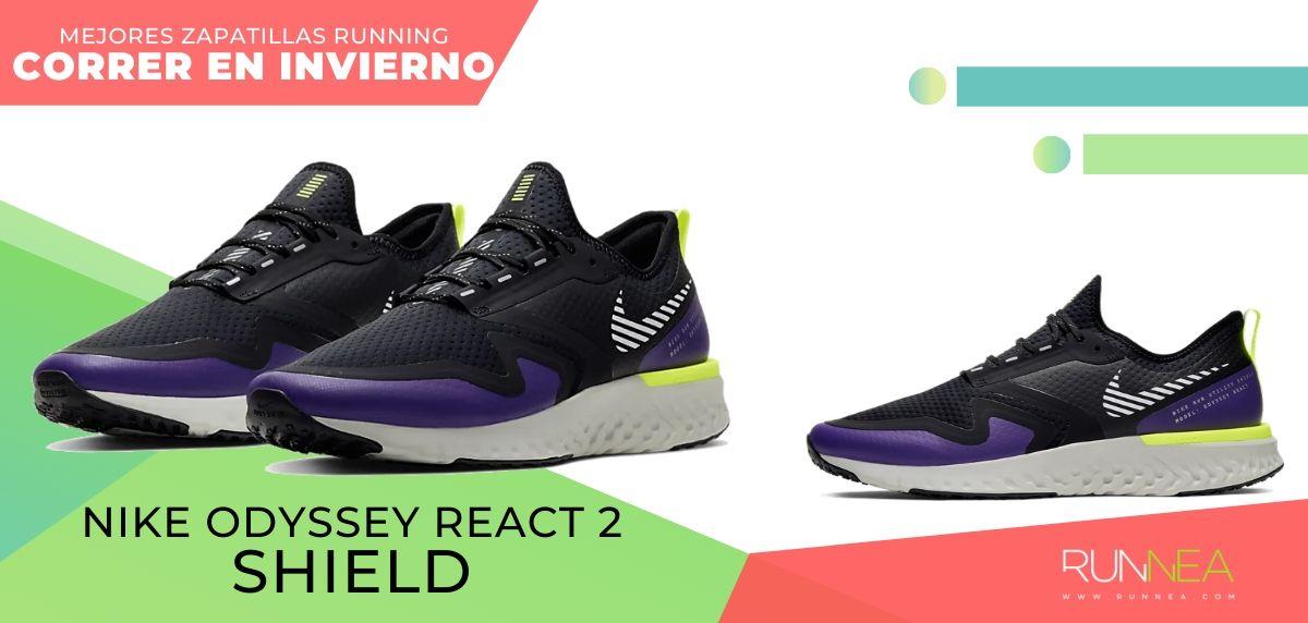 Las mejores zapatillas de running para correr en invierno y bajo la lluvia, Nike Odyssey React Shield 2