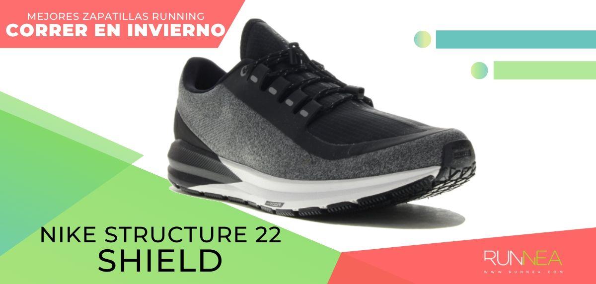 Las mejores zapatillas de running para correr en invierno y bajo la lluvia, Nike Air Zoom Structure 22 Shield