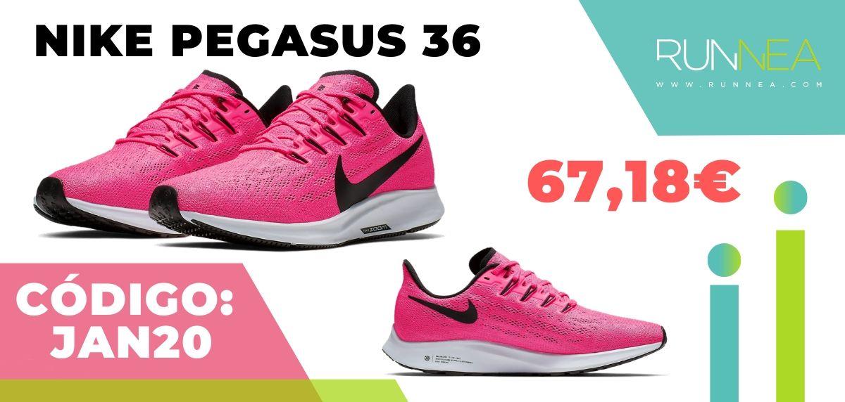 Rebajas Nike: las 12 mejores ofertas en zapatillas running ¡aplicando este código descuento! Nike Pegasus 36 mujer