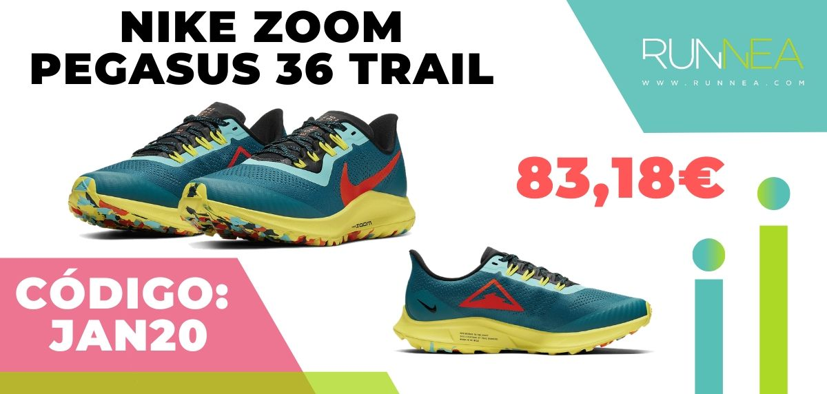 Rebajas Nike: las 12 mejores ofertas en zapatillas running, Nike Pegasus 36 Trail