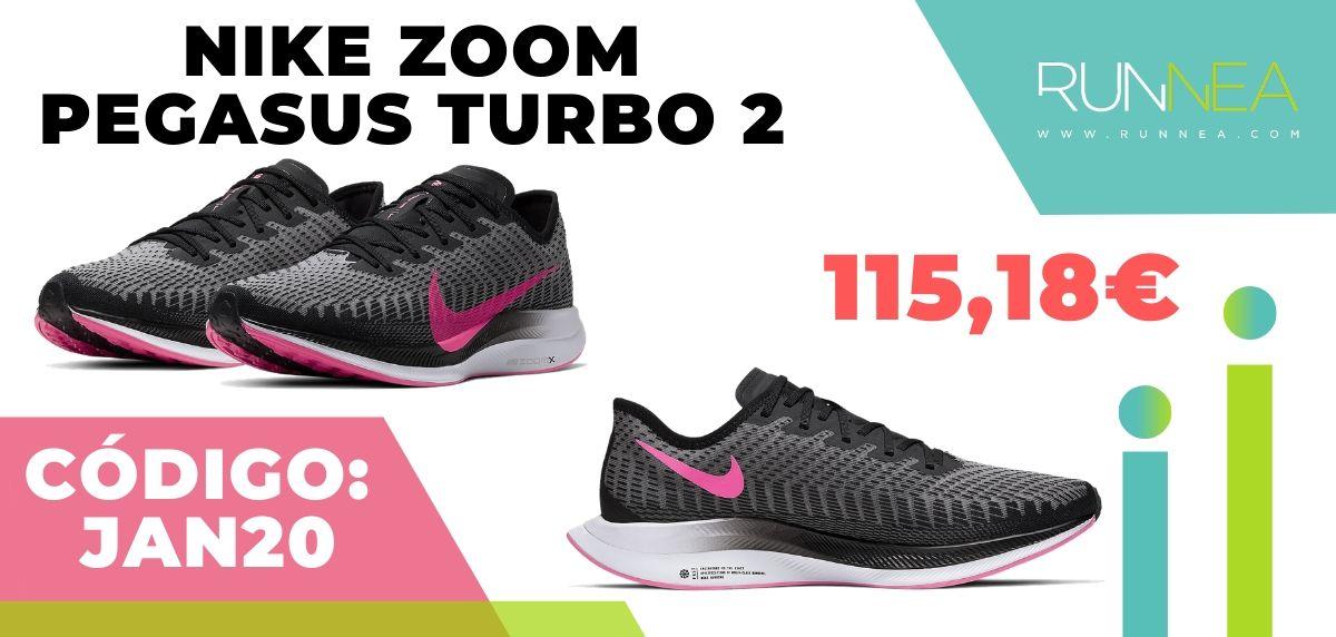 Rebajas Nike: las 12 mejores ofertas en zapatillas running ¡aplicando este código descuento! Nike Zoom Pegasus Turbo 2