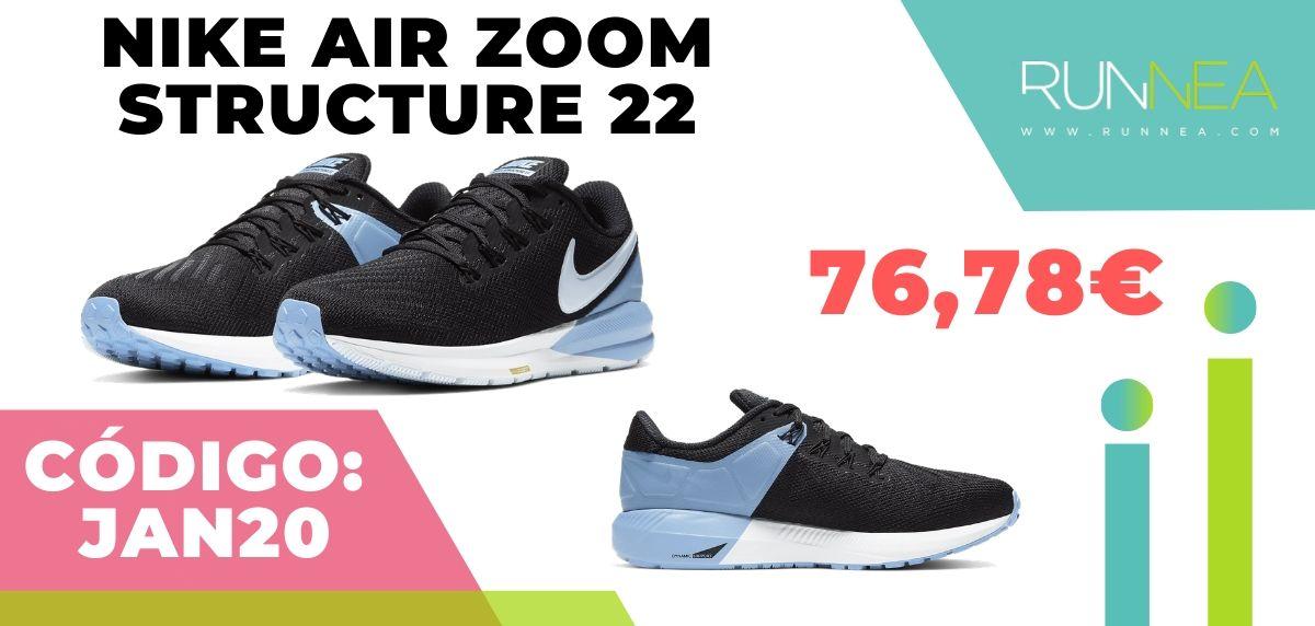 Rebajas Nike: las 12 mejores ofertas en zapatillas running, Nike Structure 22