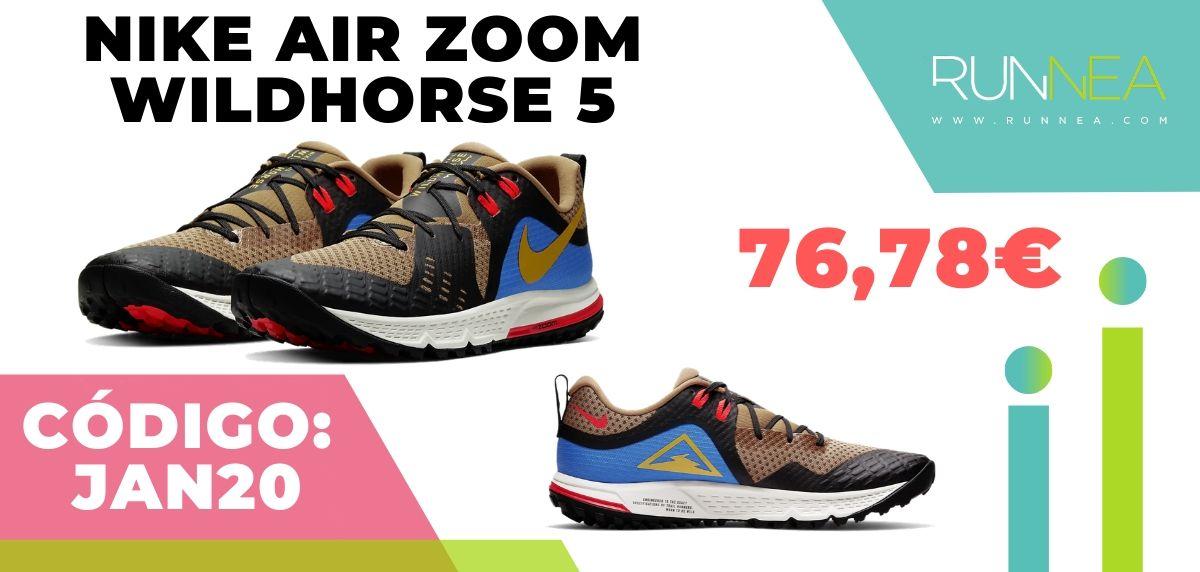Rebajas Nike: las 12 mejores ofertas en zapatillas running, Nike Air Zoom Wildhorse 5