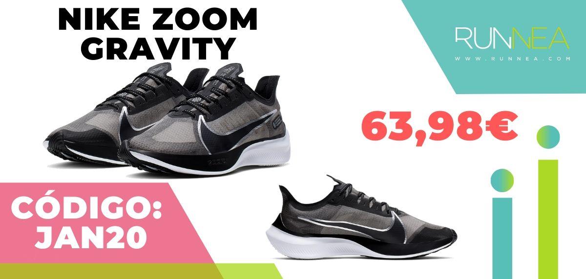 Rebajas Nike: las 12 mejores ofertas en zapatillas running, Nike Zoom Gravity