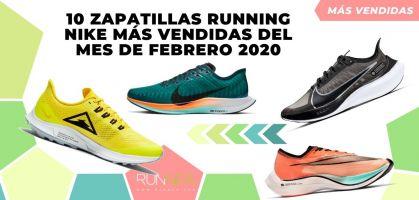 Las 10 zapatillas de running de Nike más vendidas del mes de febrero 2020