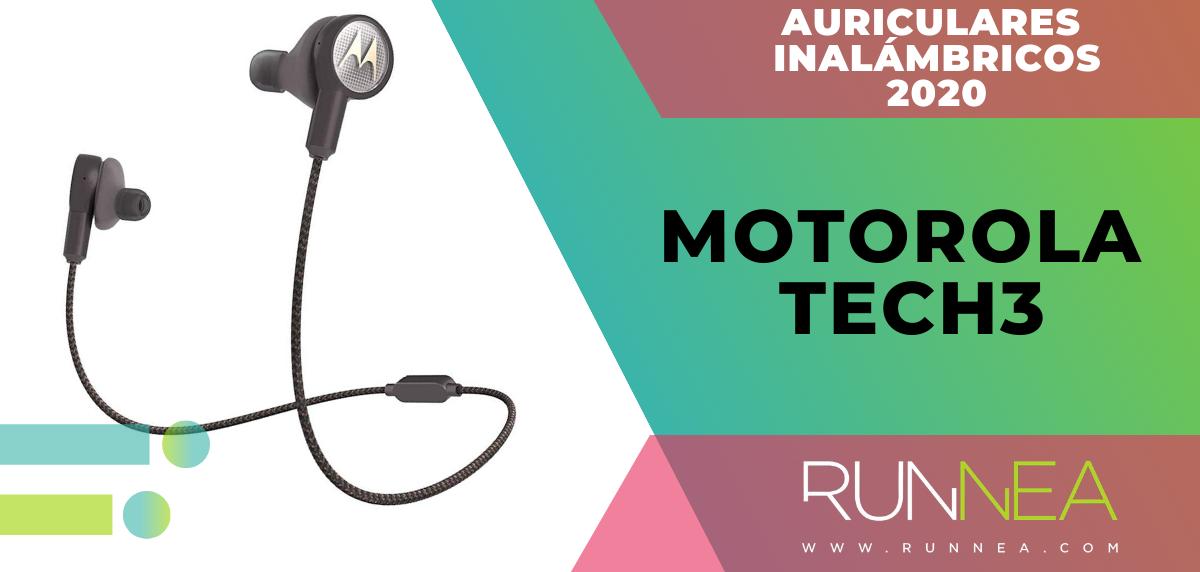Mejores auriculares inalámbricos de este 2020 para salir a correr - Motorola Tech3