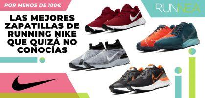 Las 8 zapatillas de running Nike de menos de 99€ que no conocías