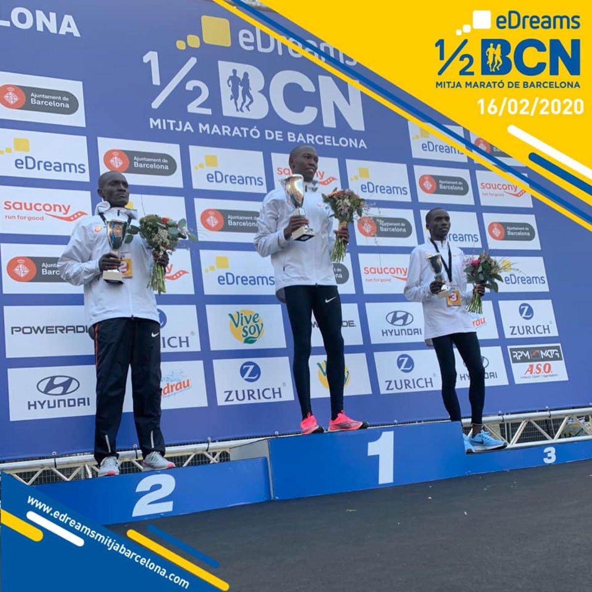 Resultados y clasificaciones de la Mitja Marató Barcelona 2020