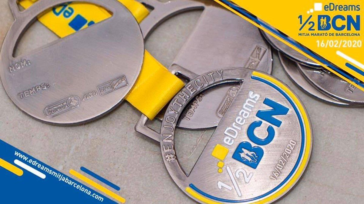 Resultados y clasificaciones de la Mitja Marató Barcelona 2020, medalla finishers