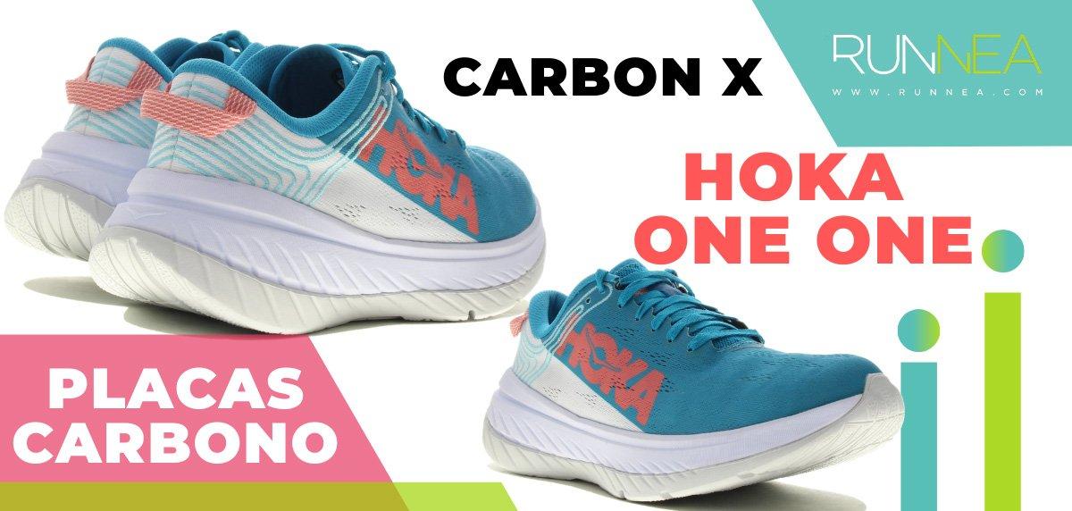 Las zapatillas de running con placa de carbono más destacadas - Hoka One One Carbon X