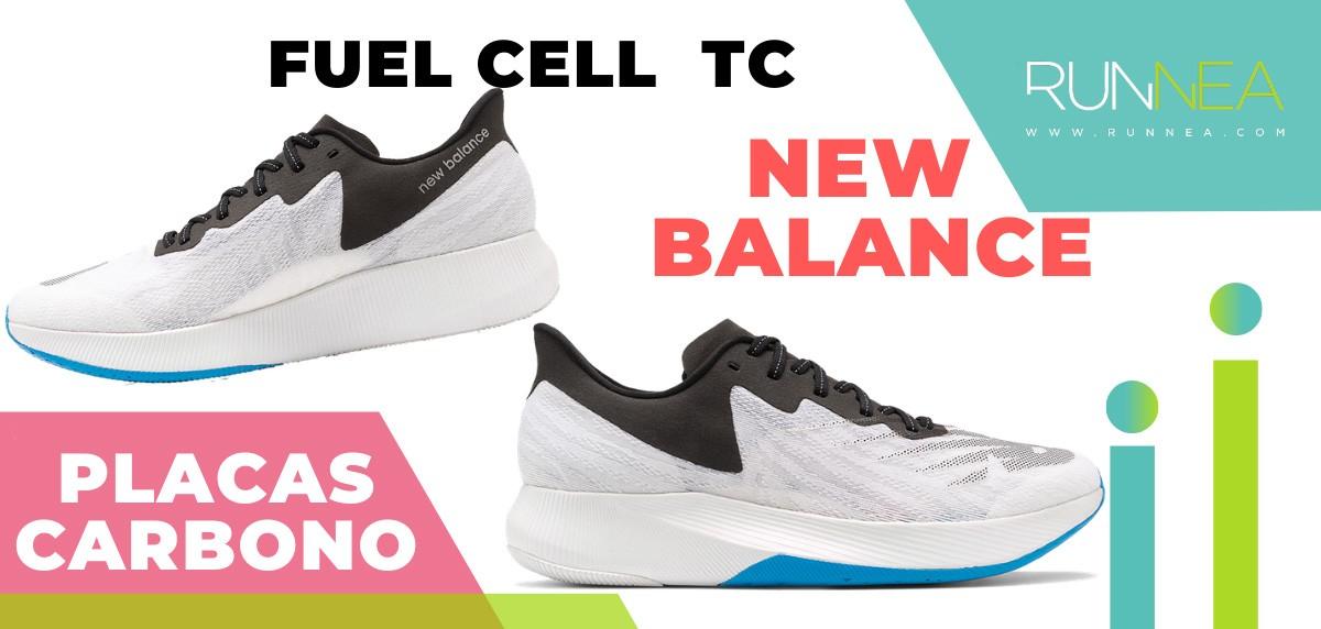Mejores zapatillas de running con placa de carbono - New Balance Fuel Cell TC