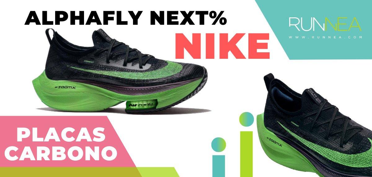 Las zapatillas de running con placa de carbono más destacadas - Nike Air Zoom Alphafly NEXT%