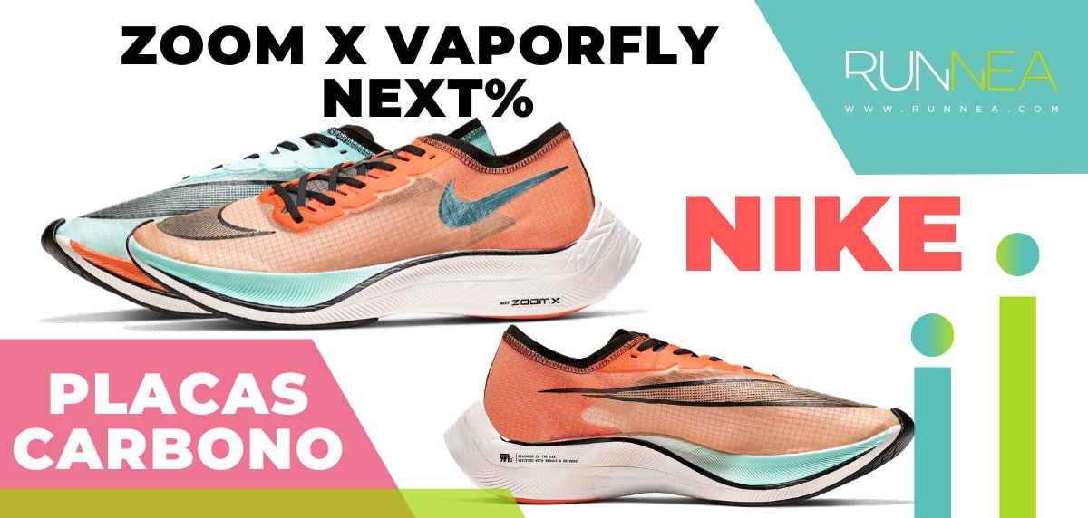 Las zapatillas de running con placa de carbono más destacadas - Nike Zoom X Vaporfly Next%