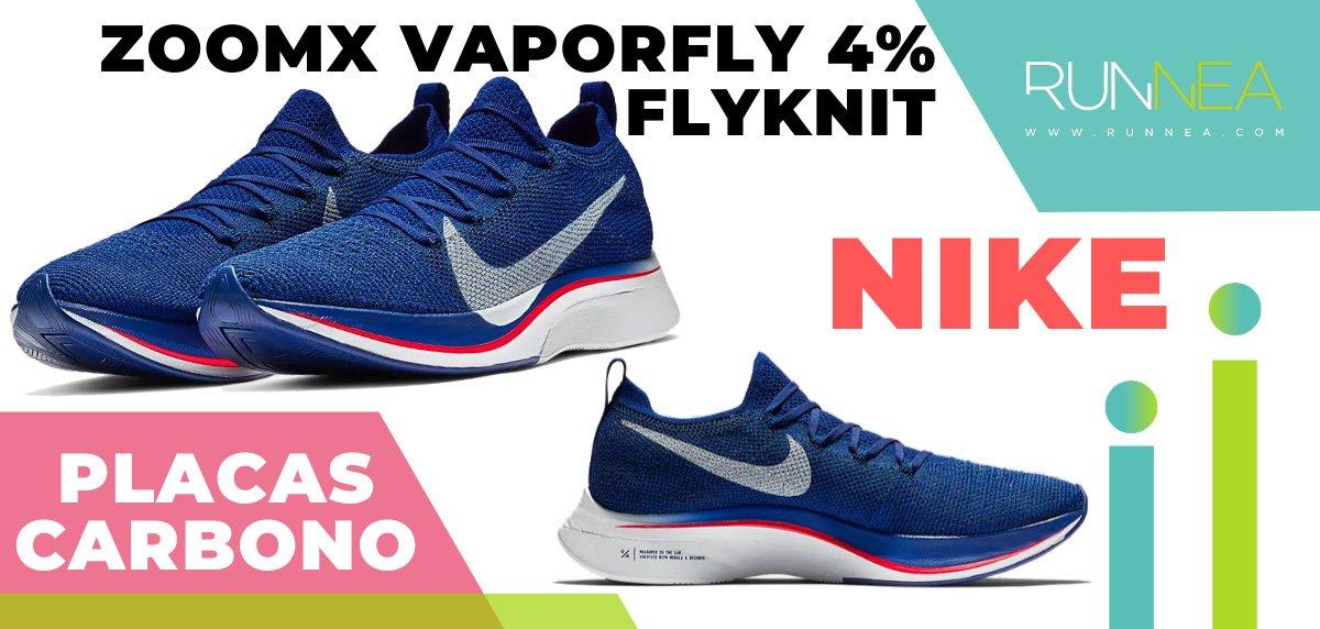 Las zapatillas de running con placa de carbono más destacadas - Nike ZoomX Vaporfly 4% Flyknit