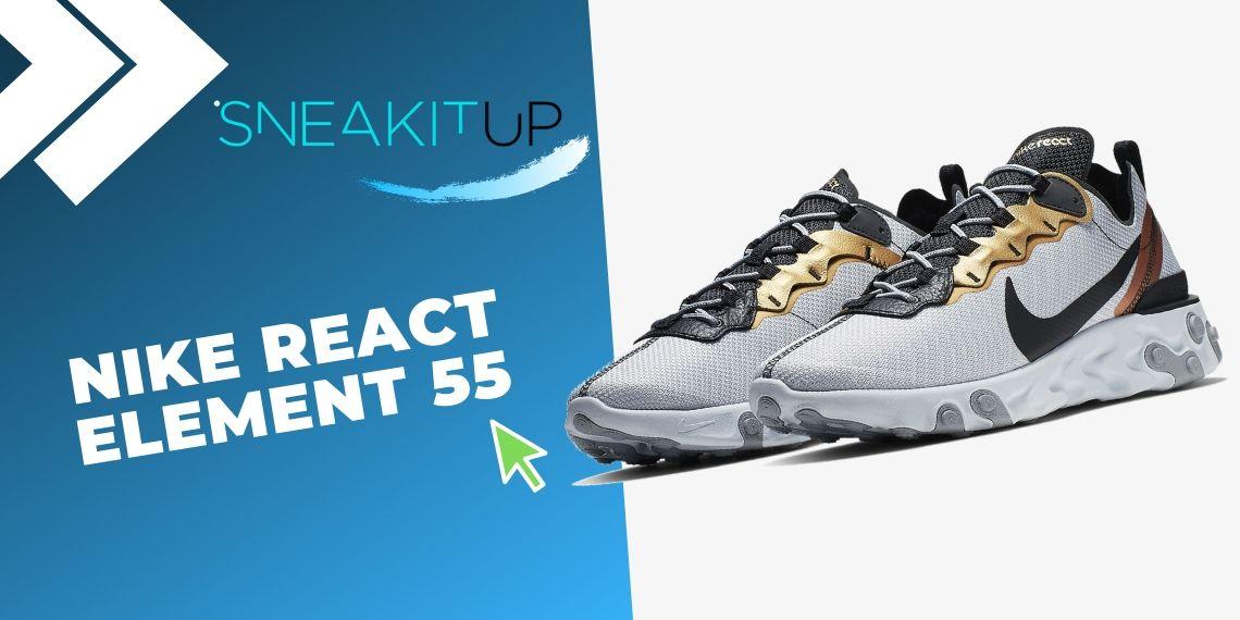 Las 10 mejores ofertas en sneakers de Nike con ¡descuentos final de temporada! Nike React Element 55