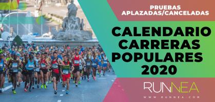 Así queda el calendario de carreras populares 2020: ¡Principales pruebas aplazadas y canceladas por la pandemia del Coronavirus!