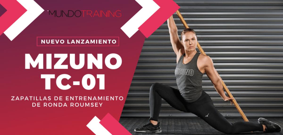 ¿Qué zapatillas usa Ronda Roumsey para sus sesiones Training? ¡Las nuevas Mizuno TC-01!