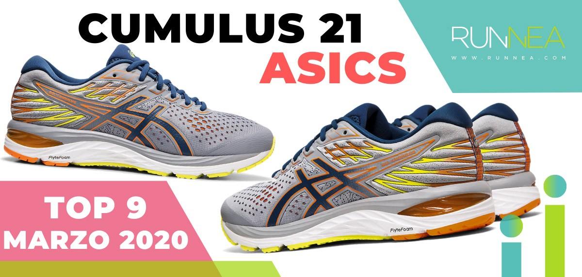 Top 15 de las zapatillas de running más vendidas en marzo 2020 en Runnea - ASICS Cumulus 21