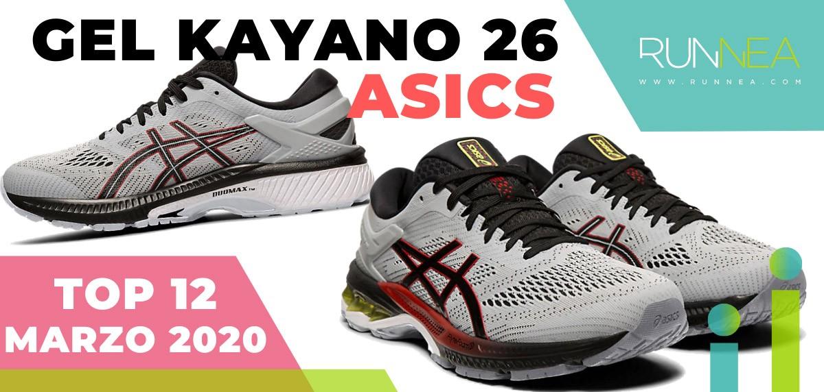 Top 15 de las zapatillas de running más vendidas en marzo 2020 en Runnea - ASICS Kayano 26