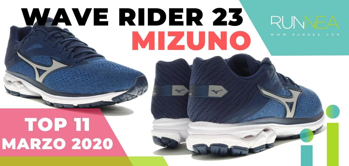 Top 15 de las zapatillas de running más vendidas en marzo 2020 en Runnea - Mizuno Wave Rider 23