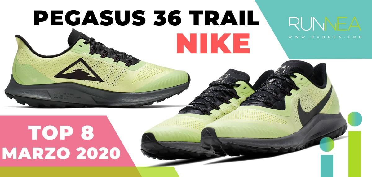 Top 15 de las zapatillas de running más vendidas en marzo 2020 en Runnea - Nike Pegasus 36 Trail