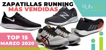 Las zapatillas de running más vendidas en el mes de marzo 2020