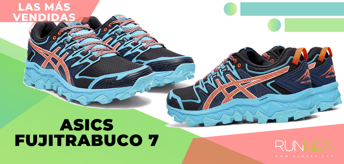 Zapatillas de trail running más vendidas del momento en tiempo de Cuarentena - ASICS Gel Fujitrabuco 7