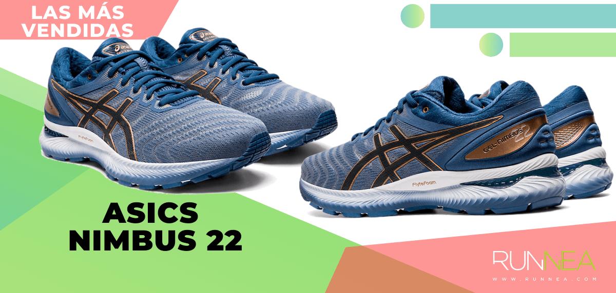 Zapatillas de running para correr asfalto más vendidas - ASICS Nimbus 22