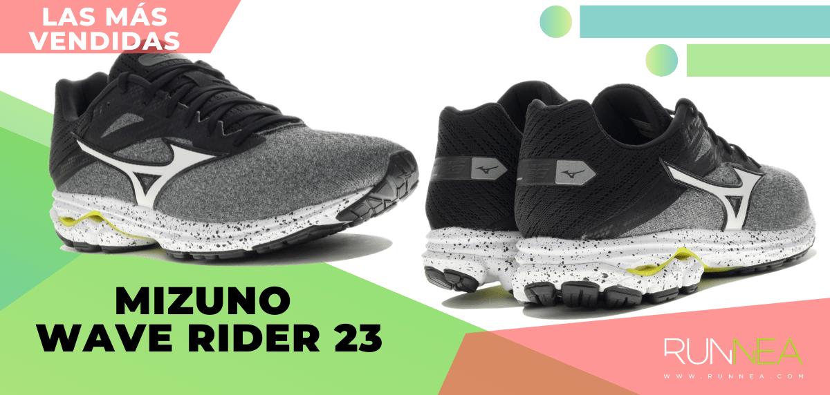Zapatillas de running para correr asfalto más vendidas - Mizuno Wave Rider 23